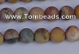 CVJ12 15.5 inches 8mm round matte venus jasper beads wholesale