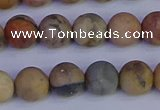 CVJ14 15.5 inches 10mm round matte venus jaspe beads wholesale