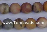CVJ15 15.5 inches 12mm round matte venus jaspe beads wholesale