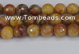 CVJ21 15.5 inches 4mm faceted round venus jasper beads wholesale