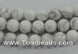 CWB202 15.5 inches 8mm round natural white howlite beads wholesale