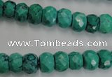 CWB446 15.5 inches 7*10mm faceted rondelle howlite turquoise beads
