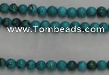 CWB551 15.5 inches 3mm round howlite turquoise beads wholesale
