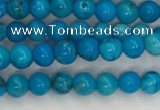 CWB856 15.5 inches 3mm round howlite turquoise beads wholesale