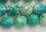 CWB880 15.5 inches 4mm faceted round howlite turquoise beads