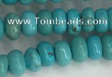 CWB895 15.5 inches 4*6mm rondelle howlite turquoise beads