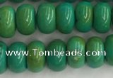 CWB899 15.5 inches 4*6mm rondelle howlite turquoise beads