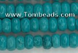CWB901 15.5 inches 2*4mm faceted rondelle howlite turquoise beads