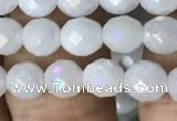 CWH65 15.5 inches 6mm faceted round AB-color white jade beads