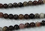 CWJ201 15.5 inches 6mm round wood jasper gemstone beads wholesale