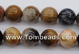 CWJ265 15.5 inches 14mm round wood jasper gemstone beads wholesale