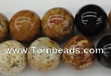 CWJ284 15.5 inches 16mm round wood jasper gemstone beads wholesale