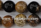 CWJ285 15.5 inches 17mm round wood jasper gemstone beads wholesale