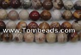 CWJ400 15.5 inches 4mm round wood jasper gemstone beads wholesale