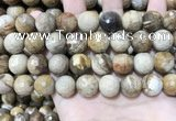 CWJ455 15.5 inches 14mm faceted round wood jasper beads wholesale
