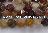 CWJ490 15.5 inches 6mm faceted nuggets wood jasper beads