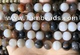 CWJ572 15.5 inches 12mm round Arizona petrified wood jasper beads