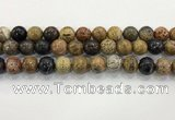 CWJ584 15.5 inches 12mm round wooden jasper beads wholesale
