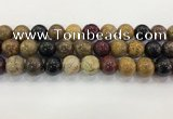 CWJ585 15.5 inches 14mm round wooden jasper beads wholesale