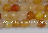 CYJ646 15.5 inches 6mm faceted round mixed yellow jade beads