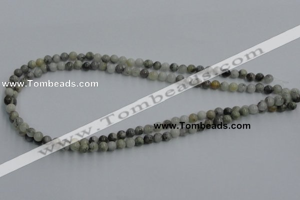 CYQ02 15.5 inches 6mm round natural pyrite quartz beads wholesale