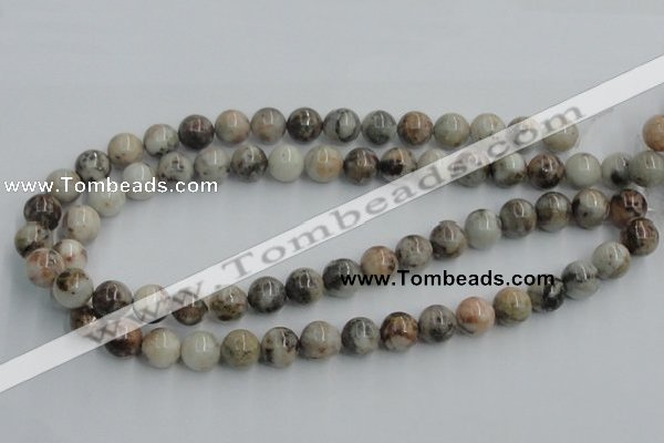 CYQ05 15.5 inches 12mm round natural pyrite quartz beads wholesale