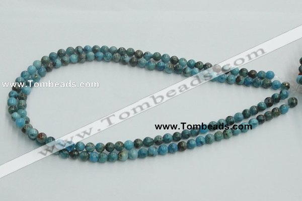CYQ51 15.5 inches 6mm round dyed pyrite quartz beads wholesale