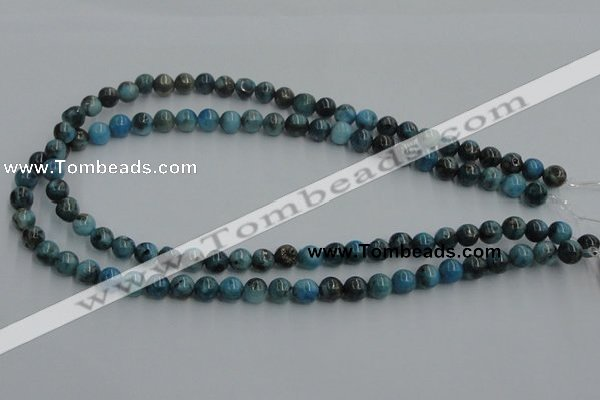 CYQ52 15.5 inches 8mm round dyed pyrite quartz beads wholesale