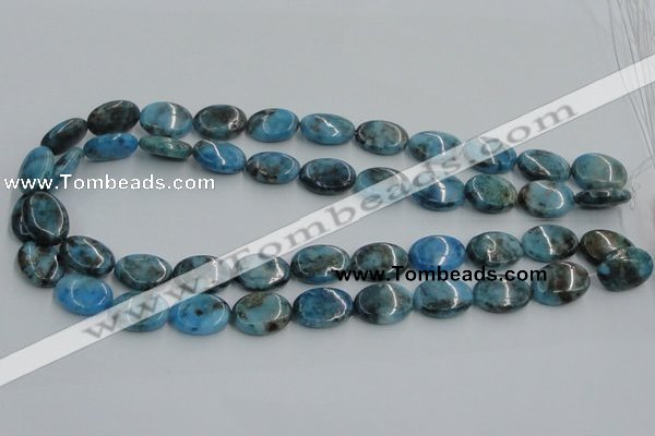 CYQ55 15.5 inches 13*18mm oval dyed pyrite quartz beads wholesale
