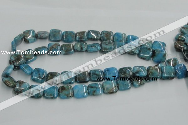 CYQ59 15.5 inches 16*16mm square dyed pyrite quartz beads wholesale