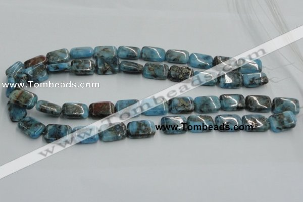 CYQ60 15.5 inches 13*18mm rectangle dyed pyrite quartz beads wholesale