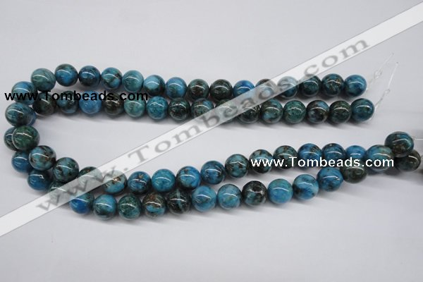 CYQ65 15.5 inches 12mm round dyed pyrite quartz beads wholesale