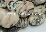 CZJ08 16 inches 13*18mm oval zebra jasper gemstone beads Wholesale