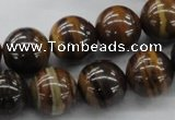 CZJ173 15.5 inches 14mm round iron zebra jasper beads wholesale