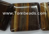CZJ195 15.5 inches 30*30mm square iron zebra jasper beads