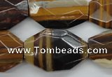 CZJ196 18*30mm - 22*32mm faceted freeform iron zebra jasper beads