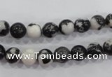 CZJ203 15.5 inches 8mm round black & white zebra jasper beads