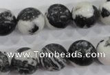 CZJ207 15.5 inches 16mm round black & white zebra jasper beads