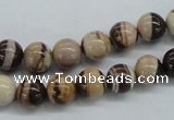 CZJ250 15.5 inches 8mm round zebra jasper beads wholesale