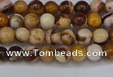 CZJ270 15.5 inches 4mm round zebra jasper beads wholesale