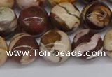 CZJ272 15.5 inches 8mm round zebra jasper beads wholesale