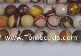 CZJ279 15.5 inches 6mm faceted round zebra jasper beads