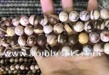 CZJ293 15.5 inches 10mm round brown zebra jasper beads wholesale