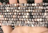 CZJ296 15.5 inches 4mm round pink zebra jasper beads wholesale