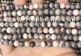 CZJ297 15.5 inches 6mm round pink zebra jasper beads wholesale