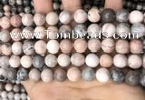 CZJ299 15.5 inches 10mm round pink zebra jasper beads wholesale