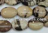 CZJ301 15.5 inches 13*18mm oval zebra jasper beads wholesale