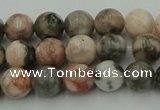 CZJ551 15.5 inches 6mm round pink zebra jasper beads wholesale