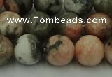 CZJ553 15.5 inches 10mm round pink zebra jasper beads wholesale