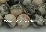 CZJ554 15.5 inches 12mm round pink zebra jasper beads wholesale